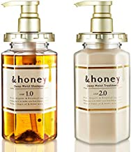 &honey Shampoo & Conditioner Set Organic Hair and Scalp Care for Intense Cleansing and Hydration - Moisture-Enhancing Wash and Protection - Ideal for Straight, Curly, Kinky, Frizzy, Treated, Colored
