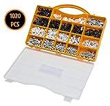 Kabelschellen Set für Rundkabel 1020tlg weiß schwarz grau Nagelschellen Kabelhalter