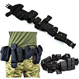 Waist Duty Belt Gun Holster Police Security Guard Law Enforcement Black