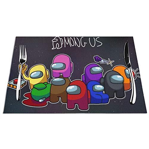 Hongfeimaoyi Am_Ong Poster U_S - Juego de 6 manteles individuales ecológicos para interiores y exteriores, para cocina, patio, comedor, mesa de fiesta
