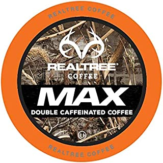 Realtree MAX Double Caffeinated Coffee Pods for Keurig K-Cup Brewers, 40 Count