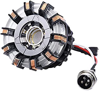 1:1 DIY Arc Reactor Heart Model Mark 2 with LED Action Figure Need to Assemble,Buy Now get 1 Pair Sunglasses as Gift