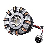 1:1 DIY Arc Reactor Heart Model Mark 2 with LED Action Figure Need to Assemble