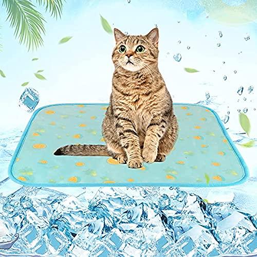 Alfombrilla de refrigeración para perro, alfombrilla de refrigeración para perros, gatos, cama de coche, asiento de coche, cómodo y portátil para mantener a las mascotas frescas (M)