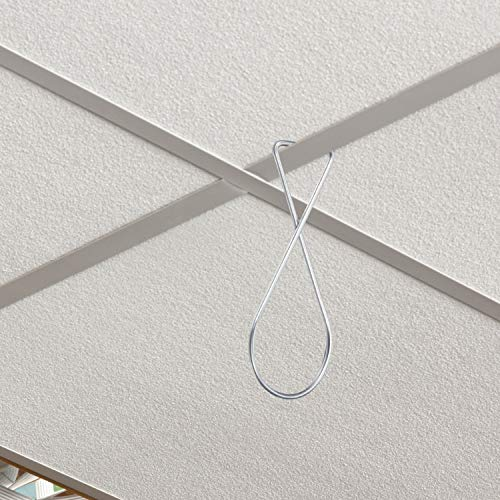 Ceiling Hook Clips Ceiling Tile Hooks T-bar Clips Drop Ceiling Clips for Office, Classroom, Home and Wedding Decoration, Hanging Sign from Suspended Tile/Grid/Drop Ceilings (30) Photo #5
