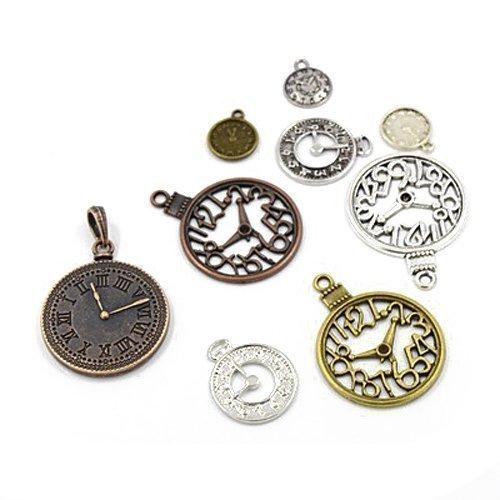 Paket 30 Gramm Gemischt Tibetanische ZufälligeMischung Charms (Uhr) - (HA06710) - Charming Beads