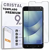 REY Protector de Pantalla para ASUS ZENFONE 4 MAX ZC554KL, Cristal Vidrio Templado Premium