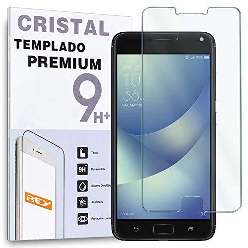 REY Protector de Pantalla para ASUS ZENFONE 4 MAX ZC554KL, Cristal Vidrio...