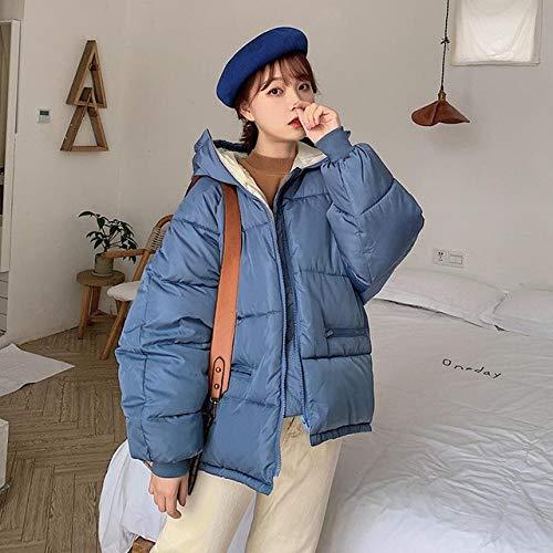 WFSDKN dames parka winterjas met capuchon parka vrouwen losse korte constructie katoen gewatteerde mantel mantel vrouwelijk zwart groen dikke jas mantel