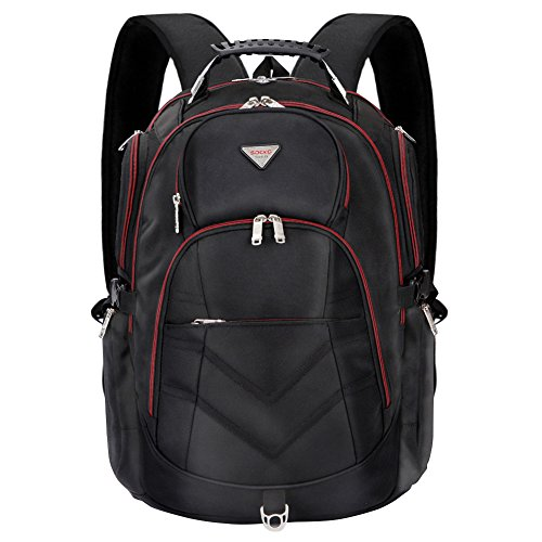 Laptop Backpack 17.3 Inch,SOCKO Nylon Water-Resistant Durable Travel Bag Hiking Knapsack Rucksack Backpack School College Student Shoulder Back Pack For 17 - 17.3 Inches Laptop Notebook Computer,Grey