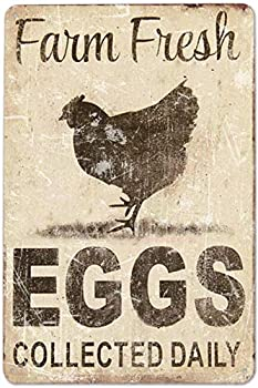 Metal Sign Fresh Eggs for Sale Bar Funny Signs Outdoor Wall Plaques Vintage Room Decor Signs Man Cave Decor Whiskey Bar Vintage Decor Signs Size  11.8 x 7.8 Inches