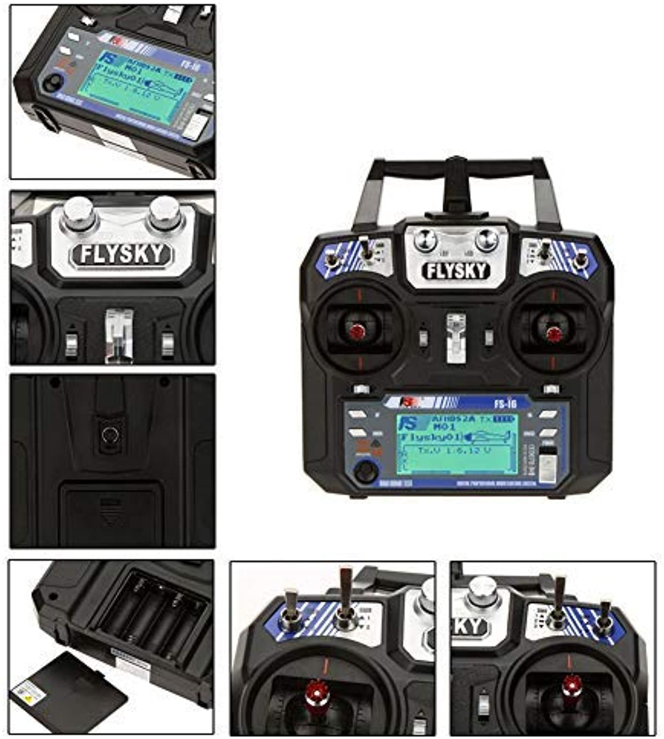 Gracorgzjs Flysky FSi6 2A 2.4GHz 6CH Radio System Transmitter Receiver for RC Helicopter