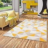 Pergamon Canvas - Alfombra de Terciopelo de Diseño - Soft Touch - Modern - Amarillo Curry 3 tamaños