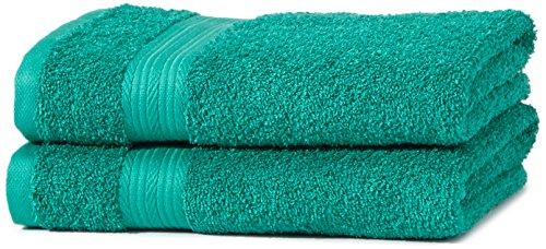 Amazon Basics AB Fade Resitant, 100% Algodón, Verde, 2 toallas de manos