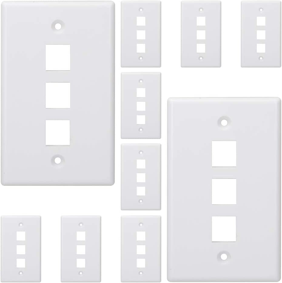 Kebulldola 3 Port Keystone Wall Plate Pack Super sale 1 Gang Super beauty product restock quality top 10 Volt Low