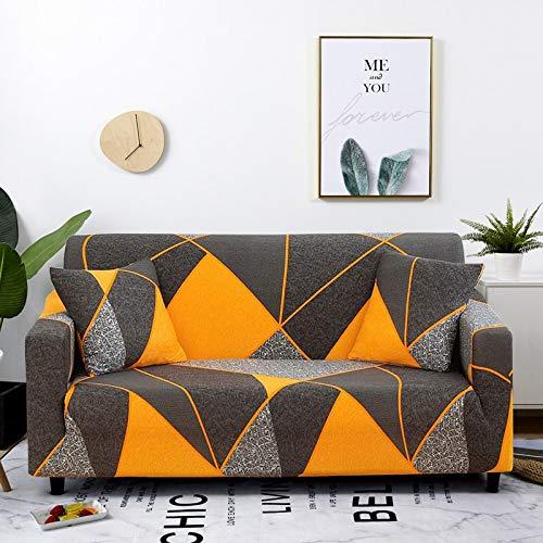 WXQY Stretch Plaid Sofabezug Wohnzimmer rutschfeste Sofabezug Kombination All-Inclusive L-förmige Ecksofabezug A9 4-Sitzer