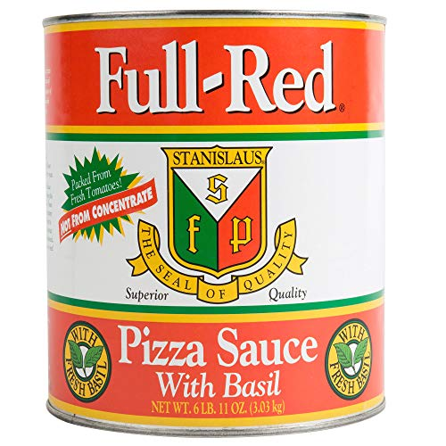 Full Red Pizza Sauce with Basil #10
