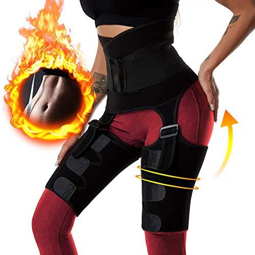 RaMokey Fajas Reductoras Adelgazantes Mujer, 3 en 1 Ajustable Cinturón Lumbar Abdominal Deportivo Trimmer para Pérdida de Peso y Modelado del Cuerpo