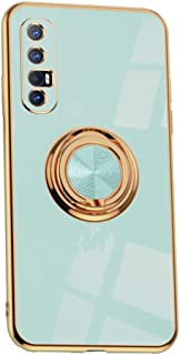 Hicaseer Case for Oppo Reno3 Pro 5G,Ultra-Thin Ring Shockproof Flexible TPU Phone Case with Magnetic Car Mount Resist Dura...