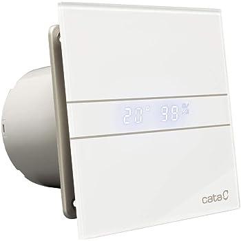 Cata E - 100 GTH Extractor de Aire para Baño Silencioso Serie E, Color Cristal Blanco: Amazon.es: Bricolaje y herramientas