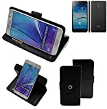 K-S-Trade® Handy Hülle Für Jiayu S3 Advanced Flipcase Smartphone Cover Handy Schutz Bookstyle Schwarz (1x)