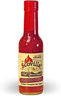 Scovillas Hot Gourmet SCORPION STING Trinidad Scorpion Hot Sauce, 148ml