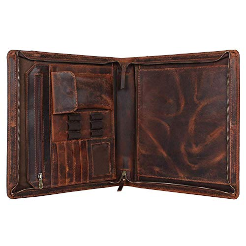Supreme Business Portfolio by Rustic Town | Professional Organizer for Men & Women | Durable Leather...