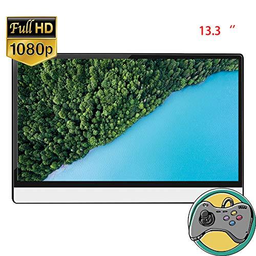 NIMIFOOL Draagbare Monitor 13,3 inch IPS-paneel lichtgewicht en aanraakbare 1920x1080 FHD USB Type-C HDMI gift holster PS4