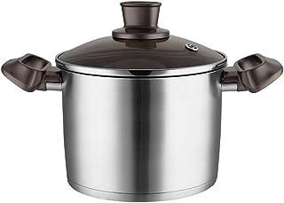 Suppentopf Olla de Sopa, Olla casera Olla de Acero Inoxidable Que Espesa la Sopa Profunda,24cm