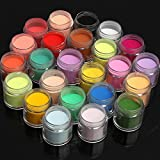 Bluelover 24 colori acrilico manicure nail art polvere polvere decorazione...