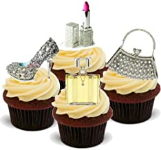 cupcakes with handbags and shoes