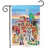 Briarwood Lane Dog Days of Summer Garden Flag Humor Nautical Beach Surfboards 12.5' x 18'