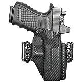 Concealment Express OWB Belt Loop KYDEX Holster fits Glock 19/19X/23/32/45 (G1-5) | Ambidextrous | Carbon Fiber Black