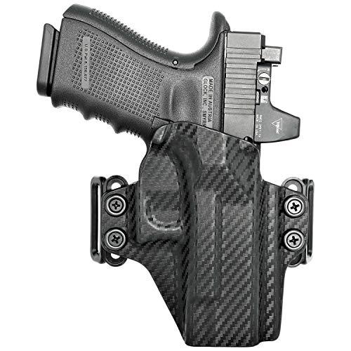 Concealment Express OWB Belt Loop KYDEX Holster fits Glock 19/19X/23/32/45 (G1-5)   Ambidextrous   Carbon Fiber Black