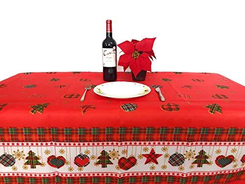 Perfect Textil Mantel Mesa Rectangular para Navidad (Navidad 1622, 150x300cm)
