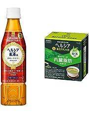 【セット買い】[トクホ] ヘルシア ヘルシア紅茶 350ml×24本+【機能性表示食品】ヘルシア 茶カテキンの力 緑茶風味 スティック×30本