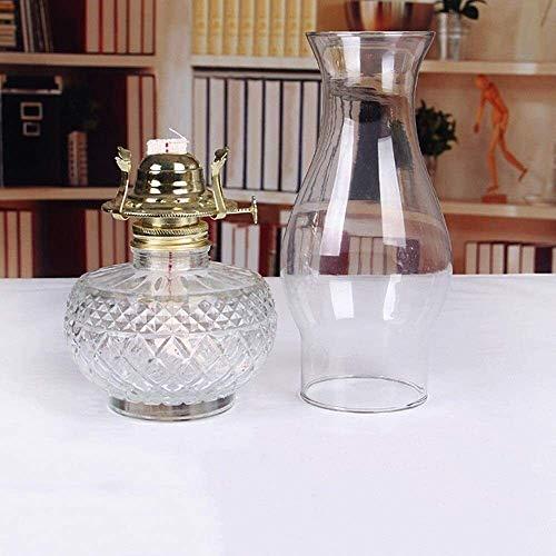 LWJPP Lámpara de aceite de cristal de cristal Lámpara de queroseno de cristal Pantalla clásica Pantalla de accesorios Inicio Parabrisas al aire libre Pantalla Pantalla Home Desktop Linterna Luces de e