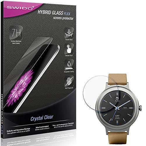 SWIDO Panzerglas Schutzfolie kompatibel mit LG Watch Style Bildschirmschutz-Folie & Glas = biegsames HYBRIDGLAS, splitterfrei, Anti-Fingerprint KLAR - HD-Clear