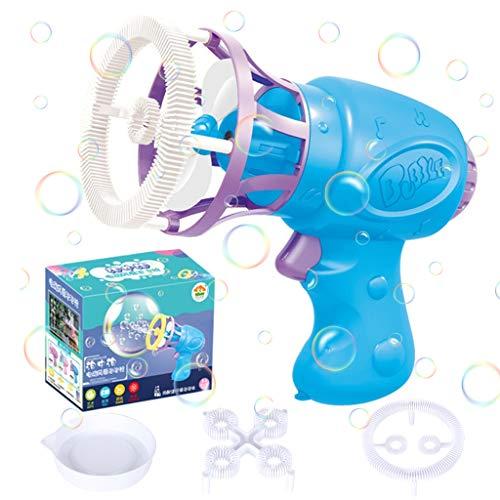 N/L Pistola de Burbujas de Agua, Pistola de Pompas de Jabón, Máquina de Pompas de Jabón para Ninos, Juguete de Regalo para Verano al Aire Libre para Niños