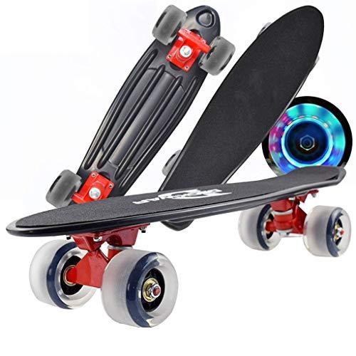 Junta de pescado skateboards corto completo Monopatín-apto for adultos, adolescentes y niños...