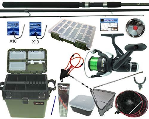 Hunter Pro Complete Starter Coarse Float Fishing Kit Set. 10' Carbon Rod,...