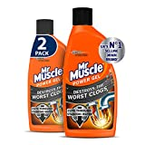 Mr Muscle Drain Unblocker, Sink & Drain Cleaner, Heavy Duty Power Gel, 2 x 500 ml