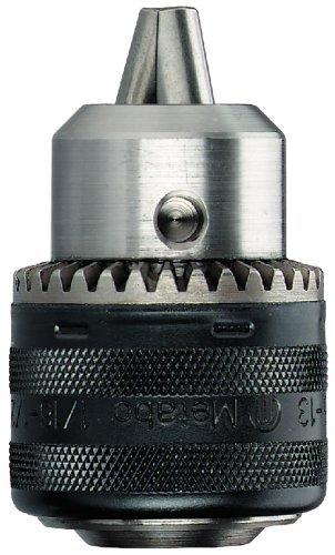 Metabo 635036000 635036000-Portabrocas de Cierre a Llave tamaño 2 Capacidad 1,5-13 mm Rosca B 16, Negro, 13mm