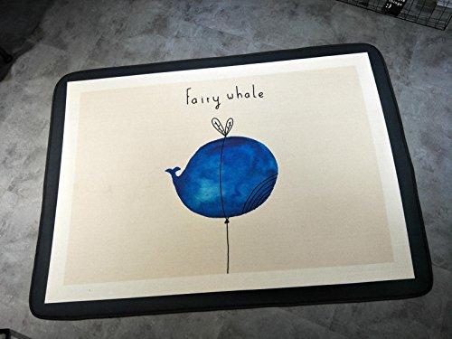 KOOCO Baumwolle & Leinen 145 X 190 cm Kinder Teppich und Teppich Groß Baby Krabbeln Mat Kinder Wolldecke für Home Wohnzimmer Baby Kinder Fußmatte, Wal, 1450 mm x 1900 mm