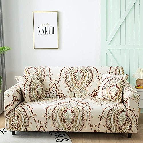 Fundas de sofá para sofá de 1 2 3 4 plazas, color blanco cremoso, funda elástica en forma de L, protector de sofá, cama de perro y gato de 190 a 230 cm