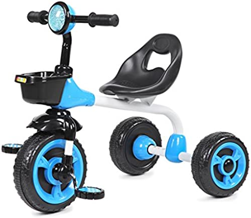 Kinder Dreirad Mini Bike einfach Indoor und Outdoor 2-6 Jahre alt Stahl blau Fahrrad
