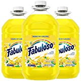 FABULOSO All Purpose Cleaner, Refreshing Lemon, 169 fl. oz. Bottle (Pack of 3) | Household Supplies & Bathroom Cleaning Supplies | Floor Cleaner & Surface Cleaner | Model Number: MX06813A