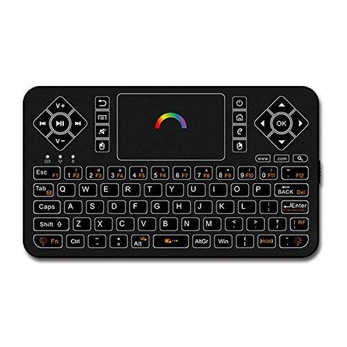 Mini tastiera wireless con mouse touchpad, Q9 2,4 GHz, retroilluminata, può essere usata come telecomando per Box TV Android, PC Windows, HTPC, IPTV, Raspberry Pi, Xbox 360, PS3, PS4