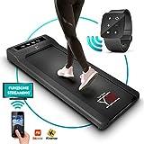 YM - Cinta de correr elctrica Walking Pad escritorio App Kinomap y Fitshow, reloj mando a distancia Watch Controller, profesional Slim plano Bluetooth para casa y oficina 1,5 HP (pico 2,5 HP)