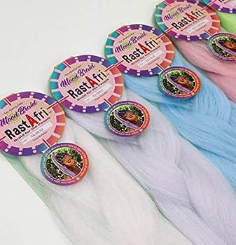 RastAfri Color Changing MOOD Crochet Braiding Hair  Pink Lemonade